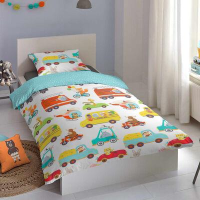 Good Morning Bäddset för barn TRAFFIC 135x200 cm flerfärgat