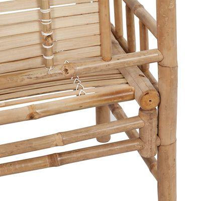 vidaXL Trädgårdsbänk med dyna 120 cm bambu