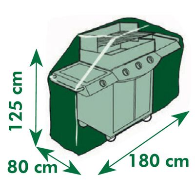 vidaXL Överdrag till gasolgrill 180x125x80 cm