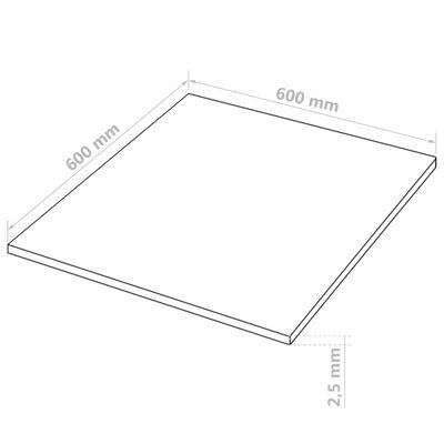 vidaXL MDF-skivor 10 st kvadrat 60x60 cm 2,5 mm