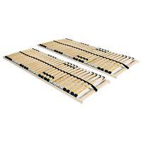 vidaXL Ribbottnar med 28 ribbor 2 st 7 zoner 90x200 cm