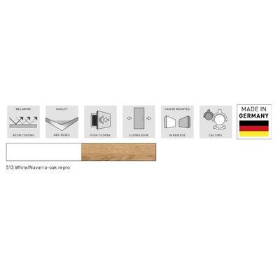 Germania Rullskåp Altino 40x48,9x56,9 cm navarra-ek och vit