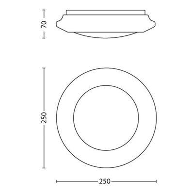 Philips Taklampa med LED myLiving Cinnabar vit 4x1,5 W 333613117