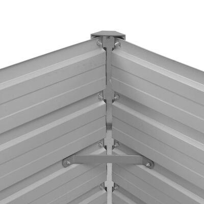 vidaXL Odlingslåda upphöjd brun 100x40x45 cm galvaniserat stål