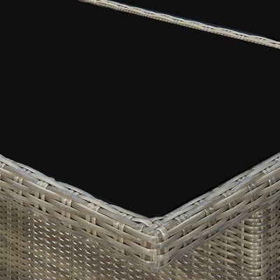 vidaXL Matgrupp för trädgården med dynor 7 delar konstrotting brun