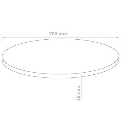 vidaXL Bordsskiva rund MDF 700x18 mm