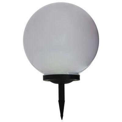 vidaXL Solcellslampor med LED 2 st sfäriska 40 cm RGB
