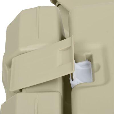 vidaXL Portabel campingtoalett 10+10L med handfat 20L grå