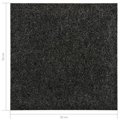 vidaXL Golvmattor 20 st 5 m² svart