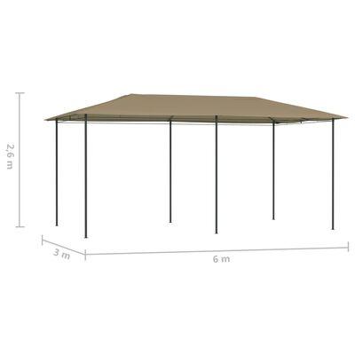 vidaXL Paviljong 3x6x2,6 m taupe 160 g/m²