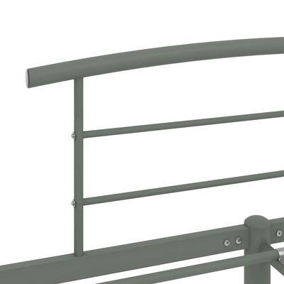 vidaXL Sängram grå metall 140x200 cm