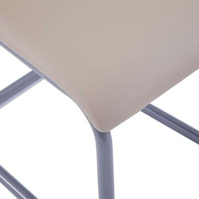 vidaXL Fribärande matstolar 4 st cappuccino konstläder
