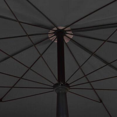 vidaXL Parasoll med stång 200x130 cm antracit