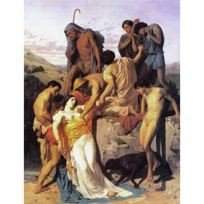 Zenobia.found by shepherds on,Adolphe William Bouguereau,50x40cm