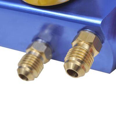 vidaXL Grenrör mätarset för AC-enhet 4-vägs
