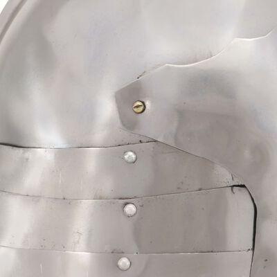 vidaXL Medeltida riddarhjälm för LARP silver stål